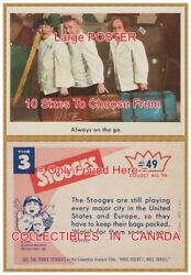 Three Stooges 1959 Suitcase 49 = Poster Trading Card 10 Sizes 18 - 4 1/2 Feet