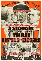 3 Three Stooges 1935 Three Little Beers Some Foam = Poster 10 Sizes 17 - 4.5 Ft