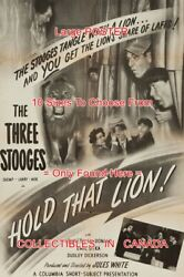 Hold That Lion 1947 Three Stooges Shemp Larry Moe =movie Poster 10sizes17-4.5ft