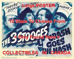 3 Three Stooges 1944 Crash Goes The Hash Cook Chef = Poster 10 Sizes 17-4.5 Ft