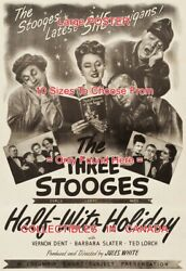 Half-wits Holiday 1947 Three Stooges She-nanigans =movie Poster 10sizes17-4.5ft
