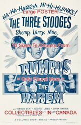Rumpus In The Harem 1956 Three Stooges Hijinks = Movie Poster 10 Sizes 17-4.5ft