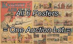 Air Mail 1943 Jack Knight Airplane = 6 Posters Comic Book 7 Sizes 19 - 3 Feet