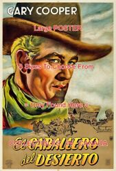 The Westerner 1943 Gary Cooper Cowboy Argentina = Poster 8 Sizes 18 - 5.5 Feet