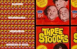 Three Stooges 1966 X100 = Poster Wax Pack Gum Wrapper 3 Sizes 3 Ft / 4 Ft / 5 Ft