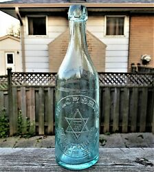 Taylor And Bate Star Of David St. Catharines Canada Lager Beer Blob Top Bottle