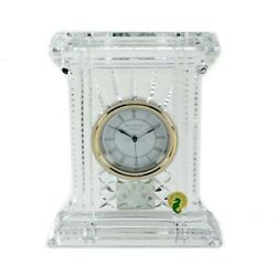 Waterford Crystal Atrium Mantle Clock Gold Brand New In Box