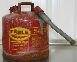 Eagle U2-51-s Red With 7/8 O.d. Flex Spout Metal Safety Gas Can