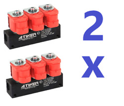 2 X Valtek Type Atiker Lpg-cng Injector Rail For 3 Cylinders Injectors 3 Ohm