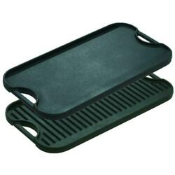 Cast Iron Reversible Grill Griddle Lodge Pre-seasoned Oven Stove Grill Campfire