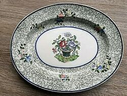 Copeland Late Spode England Oval Plate Dish Floral Green Chintz