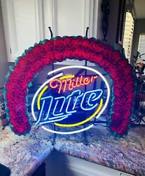 Neon Sign Miller Lite Beer 32andrdquox26andrdquo Tournament Of Roses One Year Sign Rare