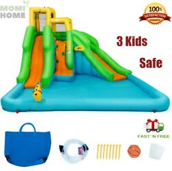 Kids Bounce House With Blower Castle Inflatable Water Slide Park Large Outdoor
