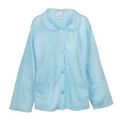 New Sag Harbor Women's Plus Size Button Front Bed Coat Robe