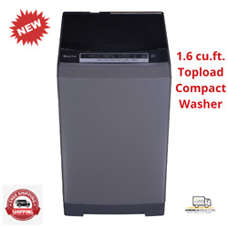 Topload Washing Machine 1.6 Cu. Ft. Mini Compact Washer Gray Fully Automatic