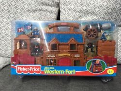 Vintage Fisher Price All In One Western Fort 2000 New Unopened Western