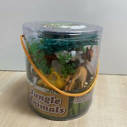 Lot Of Plastic Jungle And Farm Animals - Mixed Sizes
