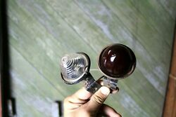 Vintage Glass Marker Lights Red And Clear Old Motorcycle Car Truck Part Rat Rod