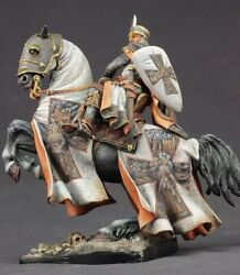 Tin Toy Soldier 90 Mm. Superb Luxury Painting In St. Petersburg.knight Templar