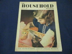Vintage The Household Magazine August 1938 Girls Plays With Kittens Fidelis H.