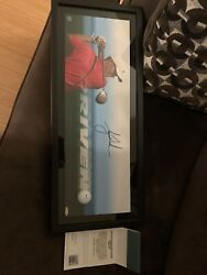Tiger Woods Uda Upper Deck Signed Autograph Breaking Through Photo Rare