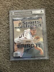 Justin Verlander Signed Beckett Authenticated Slabbed Si Cover Tigers Future Hof