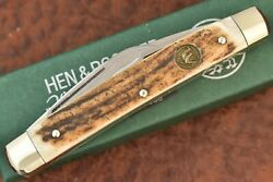 Hen And Rooster Bertram India Stag Congress Knife Solingen Germany Nice 9490