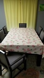Franciscan Desert Rose Table Cloth. Elegant 100 X 60 Or 8and039 X 5and039