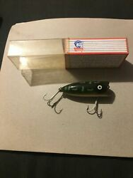 Rare Vintage Heddon Baby Lucky 16 Fishing Lure Old Fishing Lures Bass Bait Green