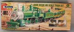 Athearn John Deere Ho Train Set With 4-4-0 Steam Engine - New In Box