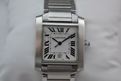 Tank Francaise 2302 Automatic Menand039s Watch With Box Excellent