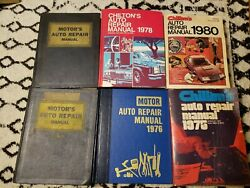 Motor's And Chilton's Auto Repair Manuals Lot 1958 1965 1968 1976 1978 1980