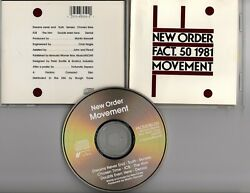 New Order Fact. 50 1981 Movement Cd Rare First Edition With Diff Cover
