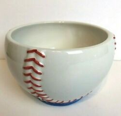 Dept 56 Baseball Sport Cereal Soup Candy Treat Bowl Man Cave Athletic Fan Dish