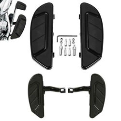 Black Airflow Rider Driver Passenger Floorboard Fit For Harley Touring 1993-2021