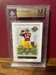 2005 Topps Aaron Rodgers Rookie Card 431 Bgs 9.5 Gem Mint Mvp Awesome Card