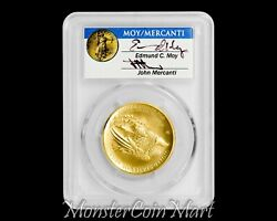 2015-w 100 Gold Liberty High Relief Pcgs Ms70 First Strike - Moy And Mercanti