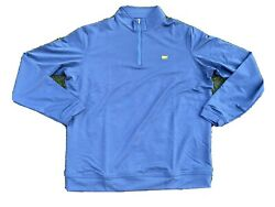 Masters By Peter Millar Navy 1/4 Zip Golf Pullover Nwt Sweatshirt Sweater Large