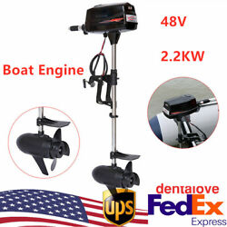 48v Electric Brushless Outboard Motor Inflatable Fishing Boat Engine 2200w