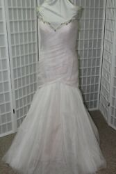 New Casablanca 2234 Freesia Size 22 Ivory Over Blush Fit N Flair Bridal Gown