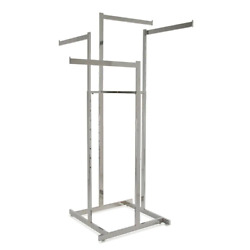 Chrome Metal Clothes Rack 44 In. W X 72 In. H