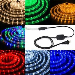 Led Rope Light 1/2 Thick Christmas Lighting Strips Xmas 10and039 25and039 50and039 100and039 150and039ft