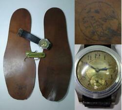 Antique Military Equipment Analog Watch Shoes's Insoles Set Vintage From Japan