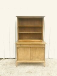 Mid Century Modern Compact Two Piece China Cabinet By Heywood Wakefield