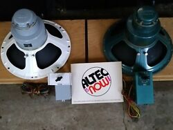 Pair Altec Lansing 15 Woofers 604d Duplex And N-1600b And 604e And N-1500-a Crossover