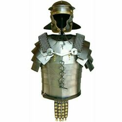 Breastplate With Helmet 18ga Medieval Steel Body Armour Cuirass Knight Costume