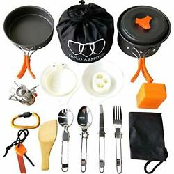Gold Armour 17 Pieces Camping Cookware Mess Kit Backpacking Gear and Hiking $45.37