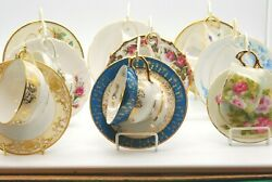 Vintage Japanese Fine China Tea Cups And Saucers