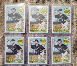 Brandon Woodruff 2018 Topps Heritage Real One Red Ink Auto Rc Brewers Ace Rookie