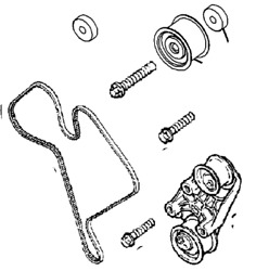Vauxhall Tension Pulley Set - Genuine New - 93172354